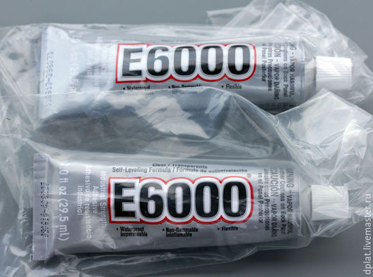 Для украшений ручной работы. Ярмарка Мастеров - ручная работа. Купить Клей E6000 оригинал туба 29,5 мл (Код: р15). Handmade.