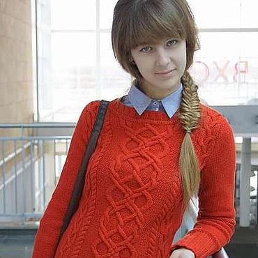 Одежда ручной работы. Ярмарка Мастеров - ручная работа Красный джемпер. Handmade.