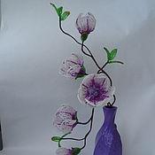 Цветы и флористика ручной работы. Ярмарка Мастеров - ручная работа Магнолия из бисера. Handmade.