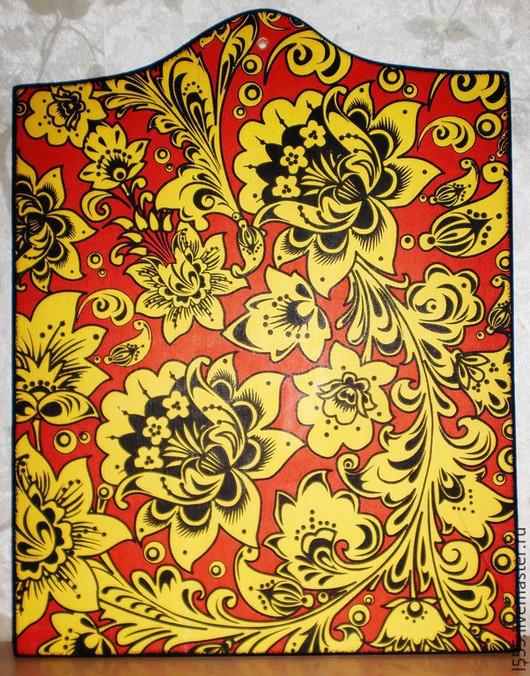 """Кухня ручной работы. Ярмарка Мастеров - ручная работа. Купить Разделочная доска панно """"А-ля хохлома"""". Handmade. Разноцветный"""