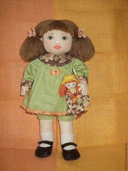 """Человечки ручной работы. Ярмарка Мастеров - ручная работа. Купить Кукла """"Я хочу играть!"""". Handmade. Текстильная кукла"""