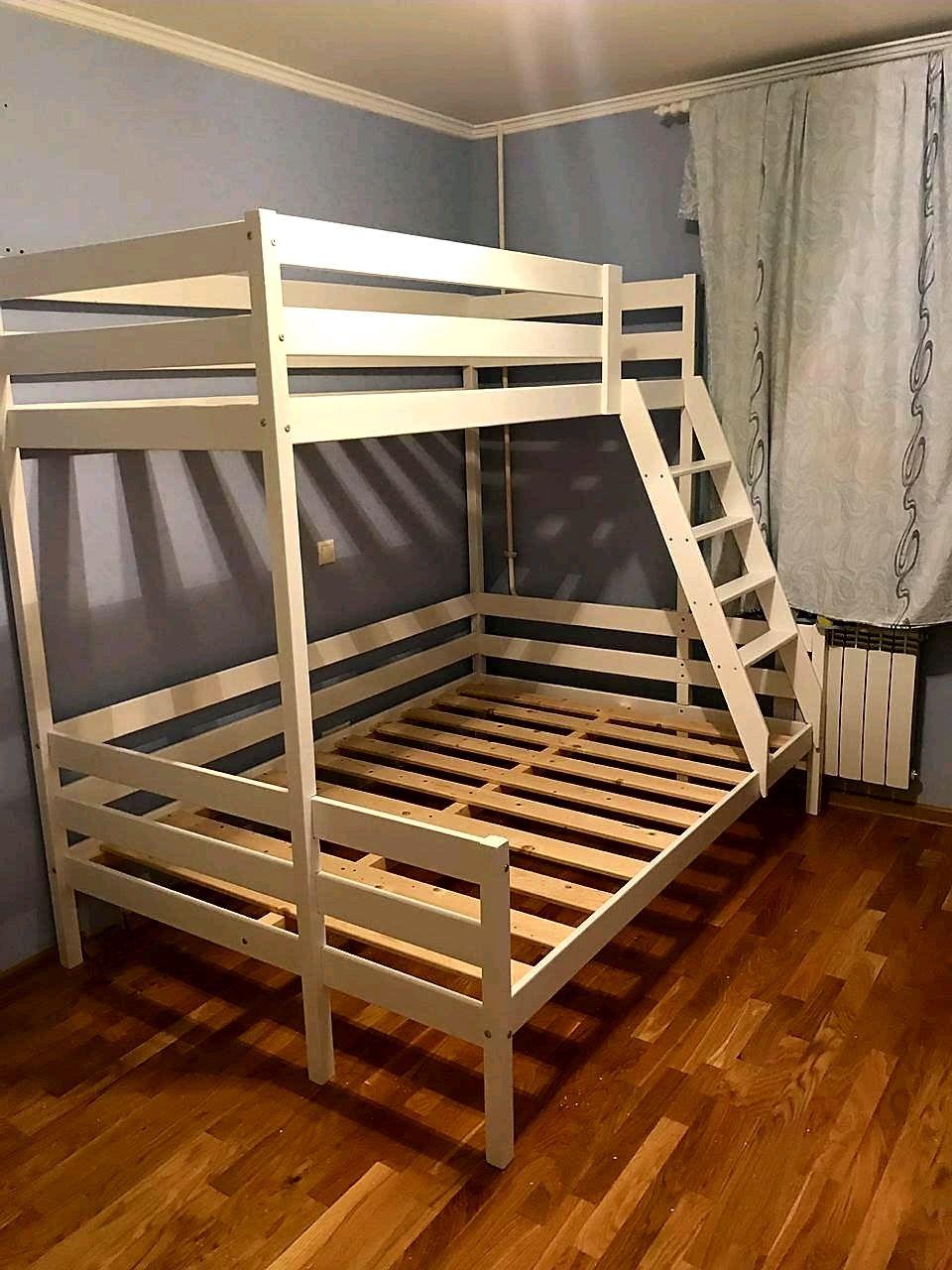 Детская двухъярусная(двухэтажная) кровать из массива, Мебель, Санкт-Петербург, Фото №1