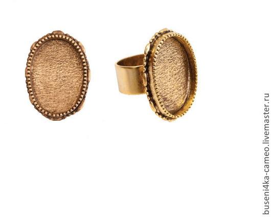 Для украшений ручной работы. Ярмарка Мастеров - ручная работа. Купить Основа для кольца Винтаж 18х25мм, ND античное золото (1шт). Handmade.