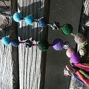 """Украшения ручной работы. Ярмарка Мастеров - ручная работа Бусы """"Сирень и море"""" , с цветущего побережья Черного моря. Handmade."""