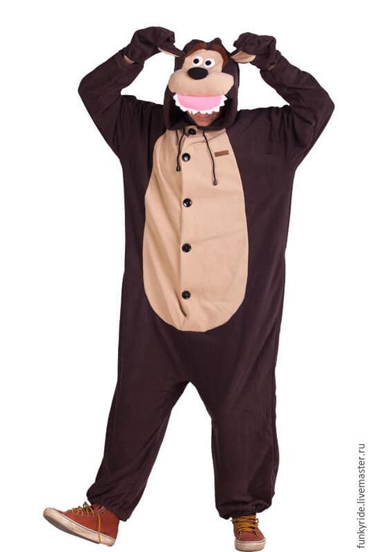 Аниме ручной работы. Ярмарка Мастеров - ручная работа. Купить Костюм кигуруми Медведь FUNKY BEAR KIGU. Handmade. Коричневый