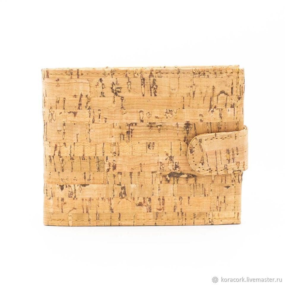 Eco wallet for men and women wooden cork handmade, Wallets, Moscow,  Фото №1