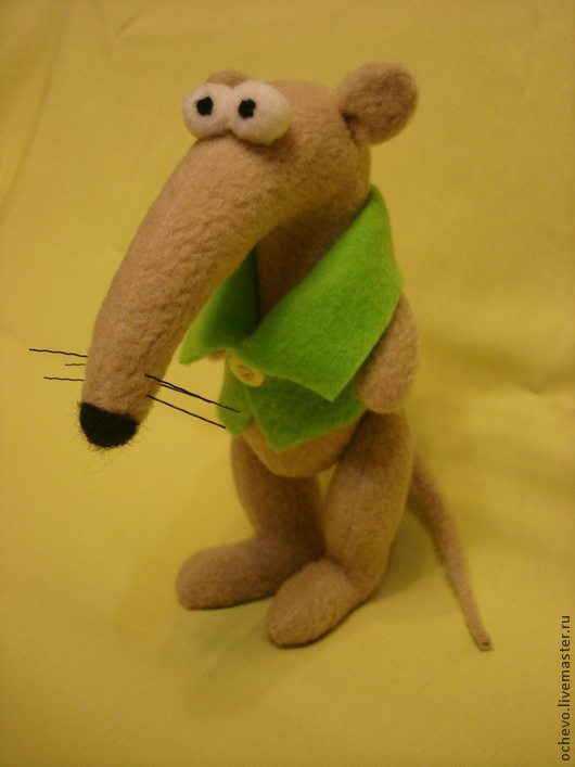 Игрушки животные, ручной работы. Ярмарка Мастеров - ручная работа. Купить Крыс в жилетке. Handmade. Крыса, игрушка, шерсть 100%