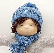 Мягкие игрушки ручной работы. Ярмарка Мастеров - ручная работа Матвейка - кукла в пришивном комбинезоне, 31 см. Handmade.