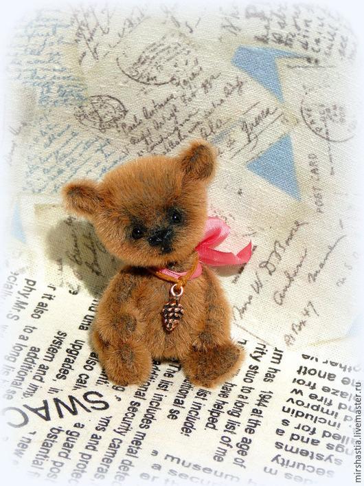 Мишки Тедди ручной работы. Ярмарка Мастеров - ручная работа. Купить Мася (мишка тедди). Handmade. Коричневый, миниатюрный мишка