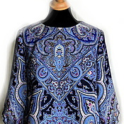 Одежда ручной работы. Ярмарка Мастеров - ручная работа Платье Синяя птица (из платка). Handmade.