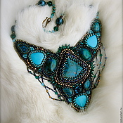 Украшения handmade. Livemaster - original item Embroidered beaded necklace Amazonia. Handmade.