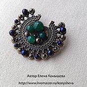 Украшения handmade. Livemaster - original item The Soul of a peacock brooch. Pearl.. Handmade.