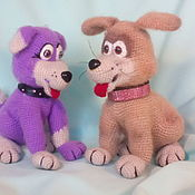 Мягкие игрушки ручной работы. Ярмарка Мастеров - ручная работа Мастер-класс собака Айс. Handmade.