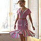 Платья ручной работы. Ярмарка Мастеров - ручная работа. Купить Нежное летнее платье. Handmade. Бледно-розовый, вязаное платье