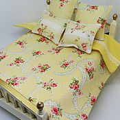 Куклы и игрушки handmade. Livemaster - original item Dollhouse accessories - bed cover for dollhouse miniature. Handmade.
