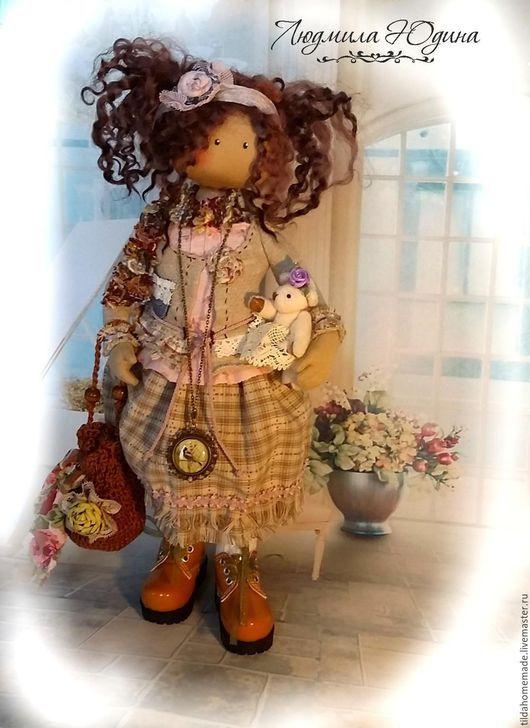 Куклы тыквоголовки ручной работы. Ярмарка Мастеров - ручная работа. Купить Текстильная кукла Ариша. Handmade. Бежевый, куклы тыквоголовки