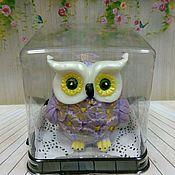Косметика ручной работы handmade. Livemaster - original item Soap Owl with flowers. Handmade.