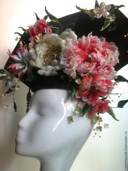 Шляпы ручной работы. Ярмарка Мастеров - ручная работа. Купить Головной убор для китайской невесты. Handmade. Разноцветный, исторический костюм