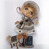 Куклы и игрушки ручной работы. Ярмарка Мастеров - ручная работа Домашняя эльфочка Вирджиния и пони Пончик. Коллекционная кукла. Handmade.