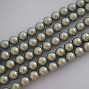 Материалы для творчества handmade. Livemaster - original item Swarovski pearls 6 mm Iridescent Green. Handmade.