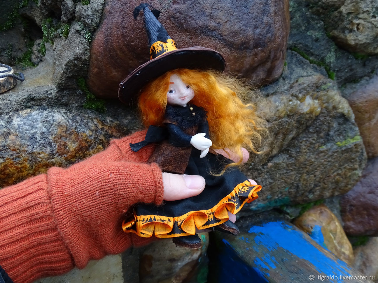 Willow, the little witch - poseable art doll, Dolls, Moscow,  Фото №1
