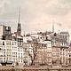 Фотокартина для интерьера в нейтральных бежевых тонах - Набережная Орфевр - Фотография Парижa, Франция. Елена Ануфриева