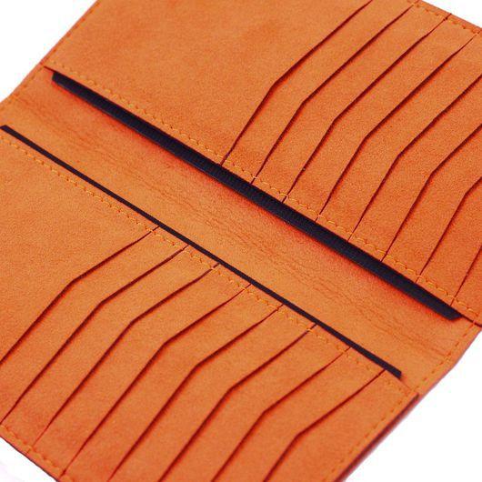 Кошельки и визитницы ручной работы. Ярмарка Мастеров - ручная работа. Купить Оранжевый холдер Mische. Handmade. Оранжевый, оранжевый портмоне
