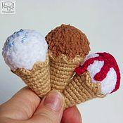 Аксессуары ручной работы. Ярмарка Мастеров - ручная работа Мороженое-рожок. Брелок, брошка, реквизит для фотосессий, игрушка. Handmade.
