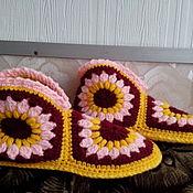 Обувь ручной работы. Ярмарка Мастеров - ручная работа Домашние тапочки на войлочной подошве. Handmade.