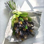 Букеты ручной работы. Ярмарка Мастеров - ручная работа Букет лаванды с сухоцветами. Handmade.
