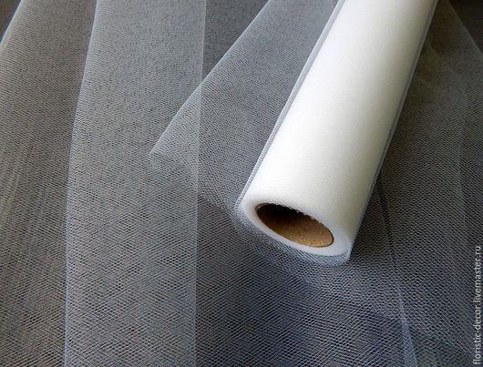Шитье ручной работы. Ярмарка Мастеров - ручная работа. Купить Сетка ФАТИН (ткань). Handmade. Белый, сетка, фатин