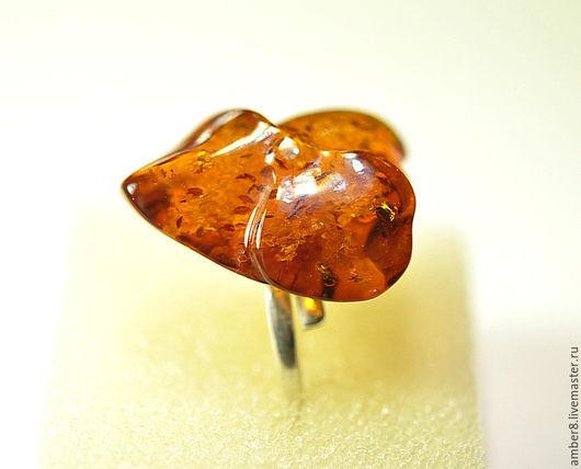 """Кольца ручной работы. Ярмарка Мастеров - ручная работа. Купить Янтарь. Кольцо """"Ботанический сад 42"""".. Handmade. Янтарь, коричневый"""