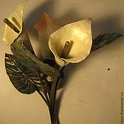 """Для дома и интерьера ручной работы. Ярмарка Мастеров - ручная работа Кованый светильник - бра """" Каллы"""". Handmade."""
