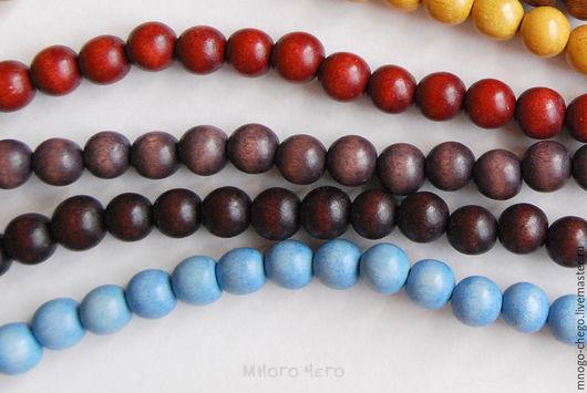 Для украшений ручной работы. Ярмарка Мастеров - ручная работа. Купить Бусины / дерево / шар 10 мм / # 2. Handmade.