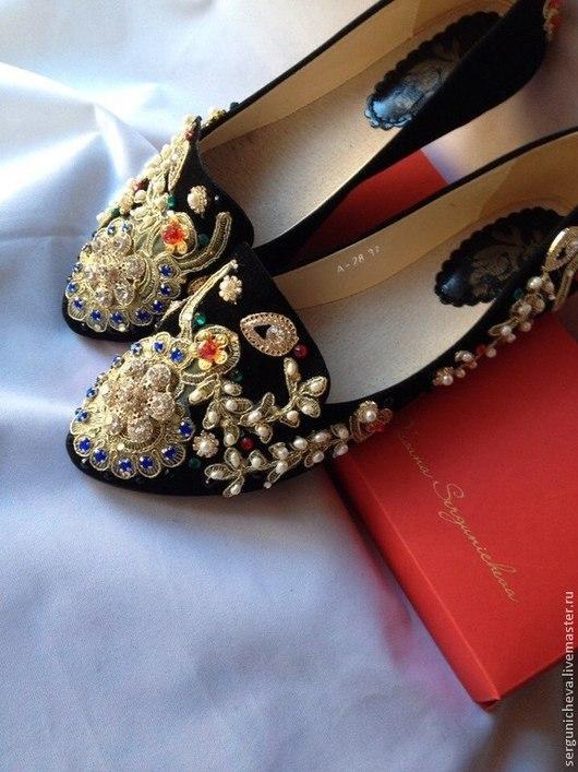 """Обувь ручной работы. Ярмарка Мастеров - ручная работа. Купить Балетки""""Утро в Раю""""в стиле DG. Handmade. В стиле дольче габбана"""