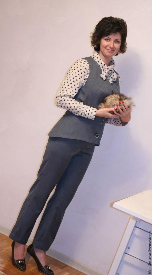 """Костюмы ручной работы. Ярмарка Мастеров - ручная работа. Купить Костюм """"МАЭСТРО"""" жилет, брюки,рубашка. Handmade. Женский костюм"""