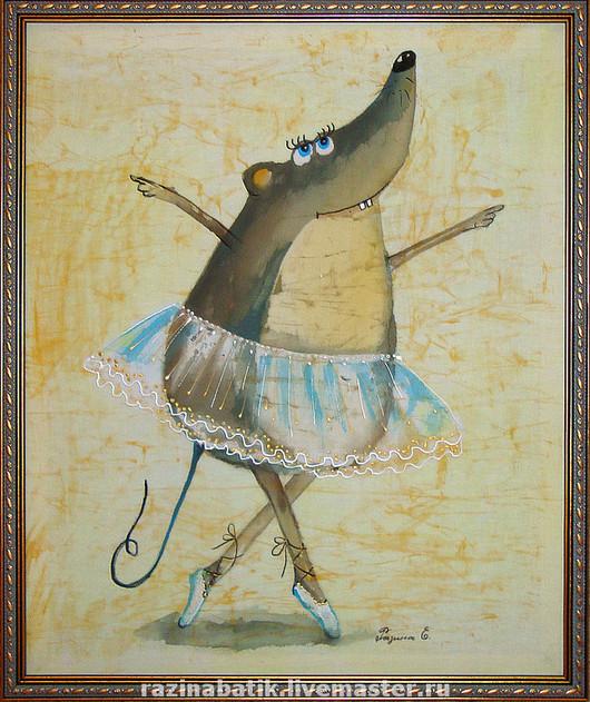 Животные ручной работы. Ярмарка Мастеров - ручная работа. Купить Мышка- балерина. Handmade. Мышь, балет, шёлк
