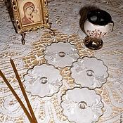 """Работы для детей, ручной работы. Ярмарка Мастеров - ручная работа Манжетки для свечей """"ГОЛУБИ"""". Handmade."""