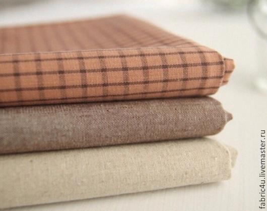 Шитье ручной работы. Ярмарка Мастеров - ручная работа. Купить Корейские ткани. 3 вида. Handmade. Коричневый, корейские ткани