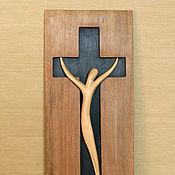 """Для дома и интерьера ручной работы. Ярмарка Мастеров - ручная работа """"Распятие"""" скульптура из дерева. Handmade."""