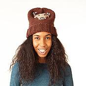 Аксессуары handmade. Livemaster - original item Hat with deer. Handmade.