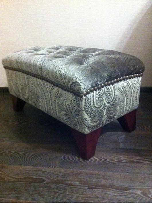 Мебель ручной работы. Ярмарка Мастеров - ручная работа. Купить банкетка Луиза. Handmade. Темно-серый, декоративные гвозди