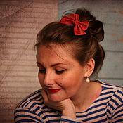 Украшения ручной работы. Ярмарка Мастеров - ручная работа Заколка бантик для волос. Handmade.