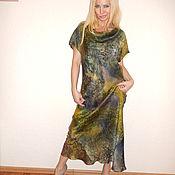 Одежда ручной работы. Ярмарка Мастеров - ручная работа платье по косой - Сочная оливка. Handmade.