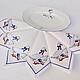 Салфетки с вышивкой `Гуси` по мотивам знаменитого чешского столового сервиза.  `Шпулькин дом` мастерская вышивки