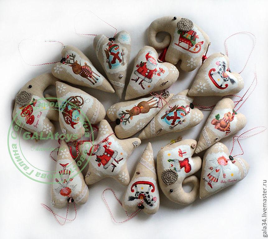 New year's interior pendant. Textile toys, Christmas decorations, Volgograd,  Фото №1