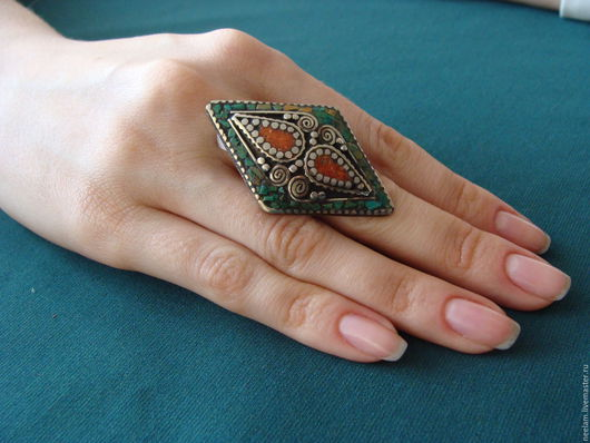"""Кольца ручной работы. Ярмарка Мастеров - ручная работа. Купить Перстень """"тибетское  созвездие"""". Handmade. Перстень, бохо-стиль, трайбл"""