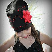 """Работы для детей, ручной работы. Ярмарка Мастеров - ручная работа Шапка с цветком """"Мисс Кармен"""". Handmade."""