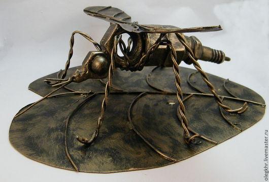 Миниатюрные модели ручной работы. Ярмарка Мастеров - ручная работа. Купить Комар. Handmade. Комар из гаек, поделки из гаек, металл