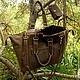 Женские сумки ручной работы. Ярмарка Мастеров - ручная работа. Купить Safari Bag (сумка и кошелёк из кожи). Handmade. Коричневый